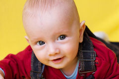 Cute baby boy. Blue-eyed cute baby boy royalty free stock images