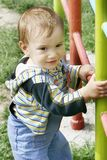 Cute baby boy. Outdoor portrait Stock Photos
