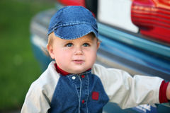 Cute baby boy. A cute one year old baby boy Stock Photography