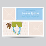 Cute Baby Boy Arrival Card Royalty Free Stock Images