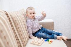 Cute baby boy with blocks Royalty Free Stock Photos