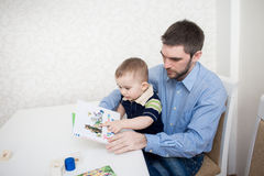 Cute baby boy with blocks Royalty Free Stock Photography