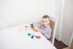 Cute baby boy with blocks Royalty Free Stock Photo