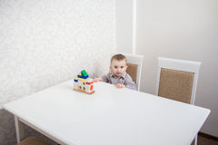 Cute baby boy with blocks Stock Image
