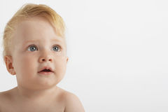 Cute Baby Boy With Blue Eyes royalty free stock photos