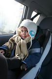 Boy in car Stock Image