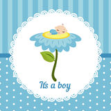Cute baby boy card. vector illustration