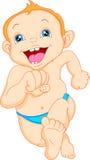 Cute baby boy cartoon Stock Image