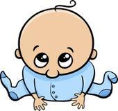 Cute baby boy cartoon Stock Photography