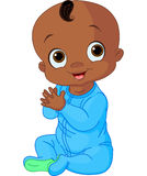 Cute baby boy clapping hands. Illustration of Cute baby boy clapping hands Royalty Free Stock Images