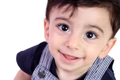 Cute baby boy. Closeup of cute baby boy . isolated on white Stock Photo