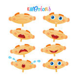 Cute Baby Boy Emotions Set Toddler Face Collection Cartoon Infant. Flat Vector Illustration Royalty Free Stock Photography