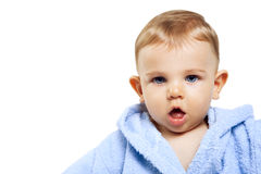 Cute baby boy with funny expression Royalty Free Stock Image
