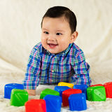 Cute baby boy. Cute hispanic baby boy portrait Stock Photo