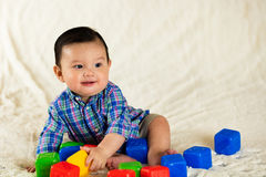 Cute baby boy. Cute hispanic baby boy portrait Stock Photography