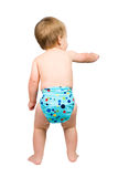 Cute Baby Boy Isolated Wearing Cloth Diaper Royalty Free Stock Photography