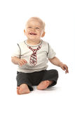 Cute Baby Boy Laughing Royalty Free Stock Images