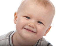 Cute Baby Boy Looking in the Camera. And Smiling Royalty Free Stock Photo