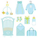 Cute baby boy nursery Stock Photography