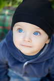 Cute baby boy outdoor Royalty Free Stock Images