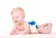 Cute Baby boy's portrait Stock Photos