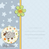 Cute baby boy shower card Royalty Free Stock Image