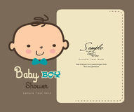 Cute Baby Boy shower card. Cute Baby Boy smiling face / Baby boy shower card Royalty Free Stock Photos
