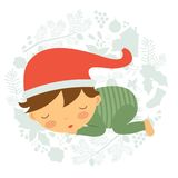 Cute baby boy sleeping Royalty Free Stock Image