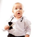 Cute Baby Boy Surprised Stock Photo