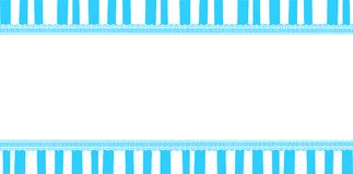 Cute baby boy template  with copy space on blue and white stripe. D background  framed with lace. Vector illustration, border, greeting card, banner can be used Royalty Free Stock Image