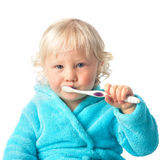 Cute baby boy with tooth brush Stock Images