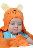 Cute baby boy in towel Royalty Free Stock Images