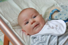 Cute baby boy with a toy Royalty Free Stock Images
