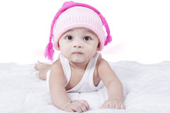 Cute Baby Boy Wearing Hat Stock Photos