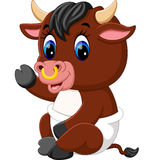 Cute baby bull cartoon Stock Photography