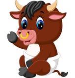 Cute baby bull cartoon Stock Photography