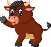 Cute baby bull cartoon Royalty Free Stock Image