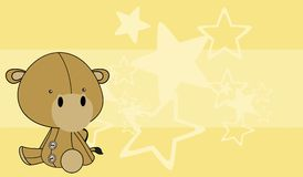 Cute baby camel cartoon background Stock Images