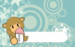 Cute baby camel cartoon background copyspace Stock Photo