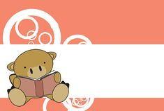 Cute baby camel reading cartoon background Royalty Free Stock Images