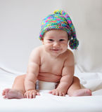 Cute baby in cap Stock Image