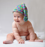 Cute baby in cap Royalty Free Stock Images