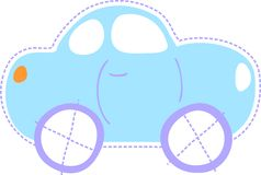 Cute baby car Stock Photography