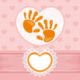 Cute baby card Royalty Free Stock Photography
