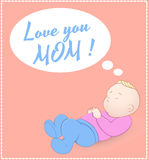 Cute Baby Card. Creative Conceptual Design Art of Cute Baby Card Vector Illustration Stock Images