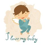 Cute baby card Stock Photography