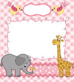 Cute baby card Royalty Free Stock Images