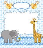 Cute baby card Stock Photo