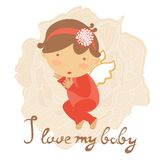 Cute baby card Royalty Free Stock Photos