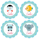 Cute baby cards Stock Photo